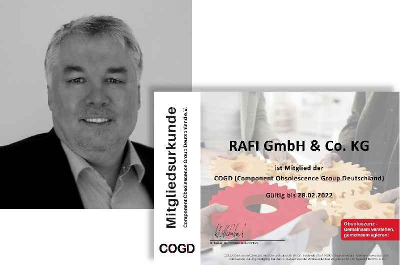 RAFI-Manager Joachim Tosberg wurde 2021 erneut in den Vorstand der Component Obsolescence Group Deutschland (COGD) gewählt