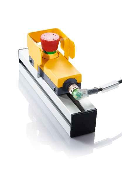Für Not-Halt-Anwendungen der E-BOX ist jetzt auch ein Schutzkragen verfügbar