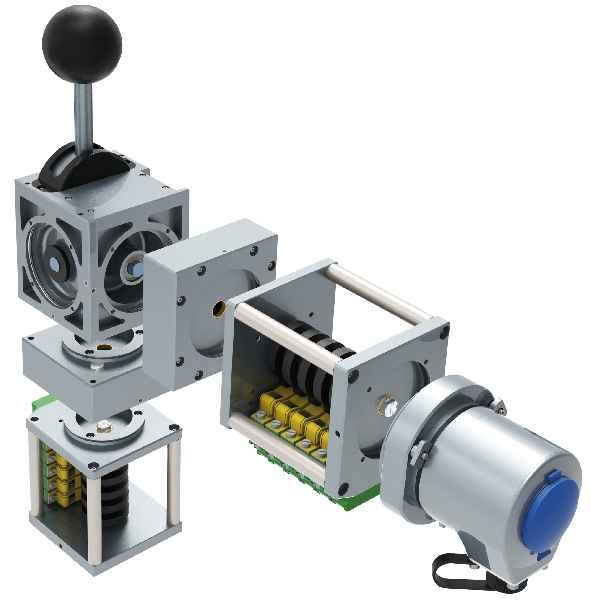 FSG stellt auf der InnoTrans die Produktstudie für ein neues, modular strukturiertes Fahr-/Bremshebelsystem vor.
