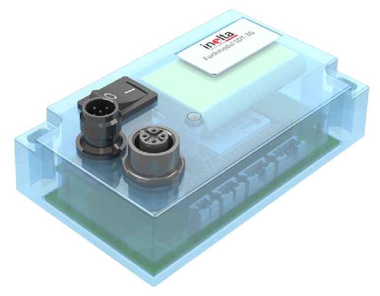 Das Funkmodul SDT-3G von Inelta zur einfachen Fernüberwachung lässt sich mit Kraft-, Weg oder Ultraschallsensoren kombinieren