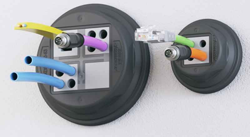 The tool-less round cable entry system accommodates all kinds of cables and conduits, ensuring IP66 ingress protection