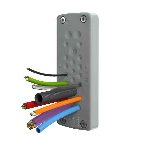 The new cable entry system KES features a very high packing density and provides IP66 ingress protection.