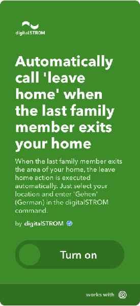 """Stellt der Echtzeit-Ortungsdienst Life360 fest, dass das letzte Familienmitglied das Haus verlassen hat, wird automatisch """"Gehen"""" im digitalSTROM-System aufgerufen"""