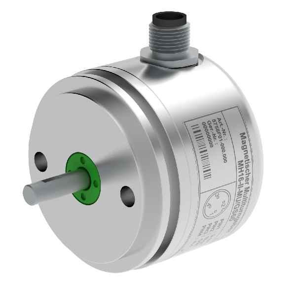 Der kompakte, kostengünstige Multiturn-Drehgeber MH64-II-CAN(MU) eignet sich auch zur Winkelerfassung in sicherheitsrelevanten Anwendungen der Kategorie PLd.