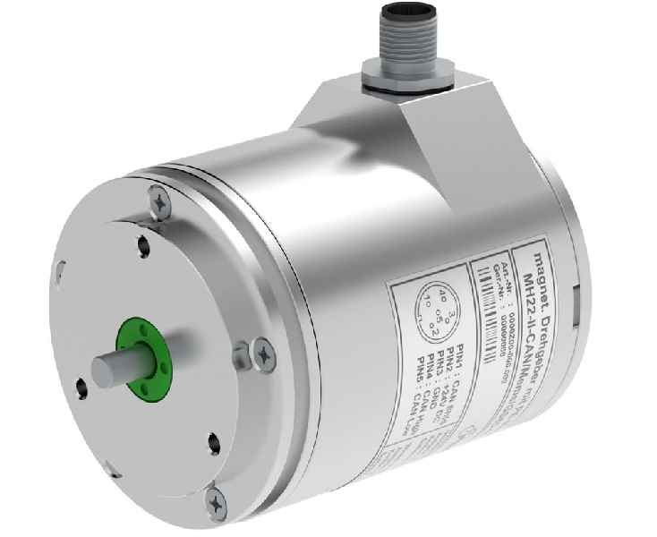 The multi-turn encoder with an integrated tilt sensor is designed for construction machinery and cranes