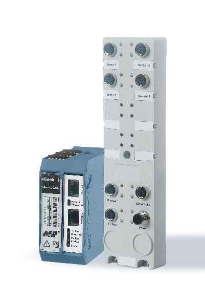 Multiparameter-Gateway MemoGate im Anreihgehäuse und als Feldgerät.