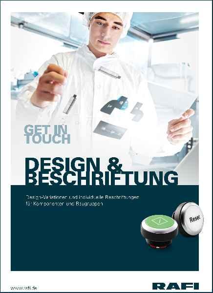 """RAFI-Broschüre: """"Design & Beschriftung"""" für Befehlsgeräte und Bedienfronten"""