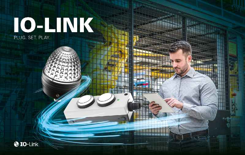 Now available in IO-Link versions: E-BOX and TILTED DIAMOND+ signal lamps from RAFI