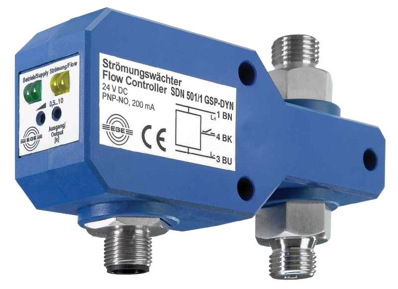 The dynamic SDN 501/1 GSP-DYN flow controller detects pulsating flow rates from 0.02 ml