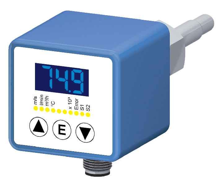 Strömungssensoren der Reihe SNS 552 messen den Durchfluss von Wasser und wasserbasierten Medien in größeren Rohren und verfügen über eine I/O-Link-Schnittstelle