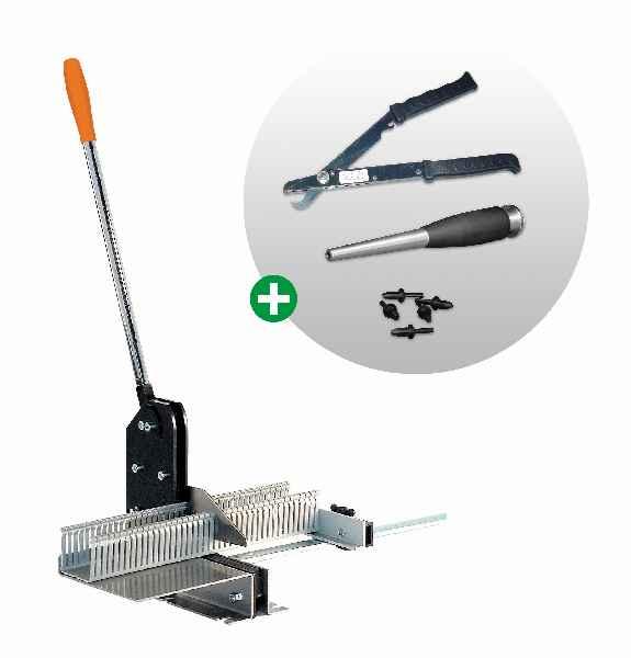 CONTA-CLIP bietet alle Werkzeuge, die zur anwendungsgerechten Konfektionierung von VK-Verdrahtungskanälen erforderlich sind.