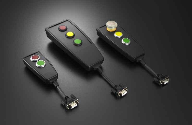 Die neuen in drei Gehäusegrößen erhältlichen Bedien-Handhelds von EVG werden anschlussfertig in kundenspezifischer Ausführung geliefert