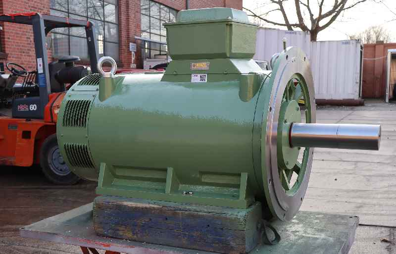 Menzel built the generator with a special shaft to withstand the large radial forces in the Pelton wheel application