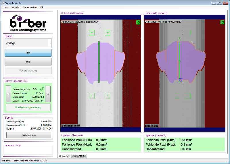 Das 3D-Scansystem prüft Metallplatinen unabhängig von Beleuchtung und Verunreinigungen auf Stanzfehler und Planheit