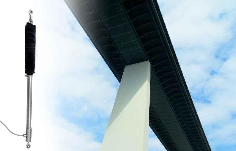 Pixabay/Babara Bumm)Bild: Der Outdoor-LVDT zur Langzeitüberwachung von Brückenstatiken zeichnet sich durch seine robuste Ausführung und ein optimiertes Längen-Tast-Verhältnis aus.