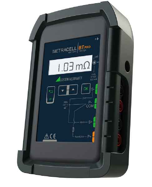 The new METRACELL BT Pro battery tester from Gossen Metrawatt enables professional functional testing and maintenance of battery storage systems