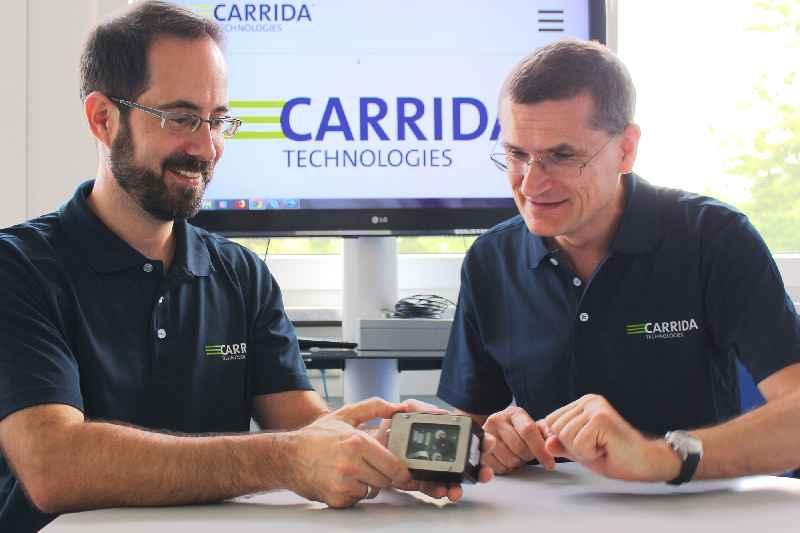 Carrida Technologies entwickelt Bildverarbeitungstechnik für die automatische Nummernschilderkennung und Fahrzeugtypisierung (im Bild die Geschäftsführer Jan-Erik Schmitt und Oliver Sidla)
