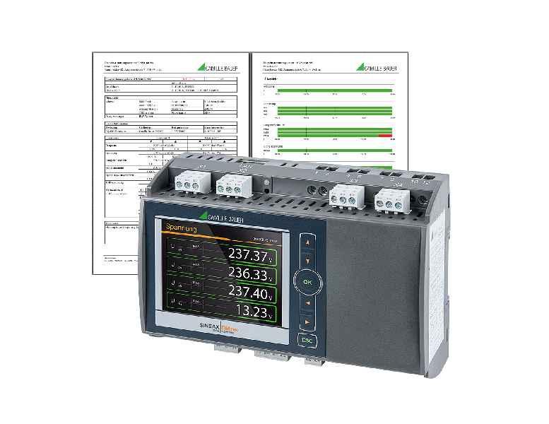Camille Bauer hat seine Messgeräte für die Netzanalyse mit einem Direkt-Reporting für normkonforme Berichte ohne zusätzliche Auswertesoftware ausgestattet
