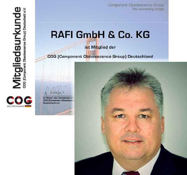 RAFI-Manager Joachim Tosberg wurde zum neuen Vorstandsmitglied des Component Obsolescence Group Deutschland e.V. gewählt