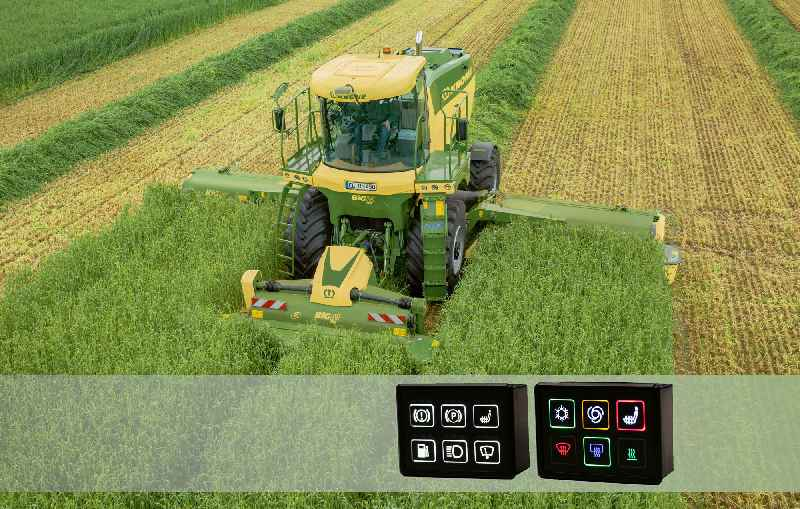 Auf der Agritechnica 2019 zeigt Griesbach in Halle 17/B17 Bediensysteme für die Agrarbranche sowie seine Neuentwicklungen in der Steuerungs-, Schalt- und Beleuchtungstechnik