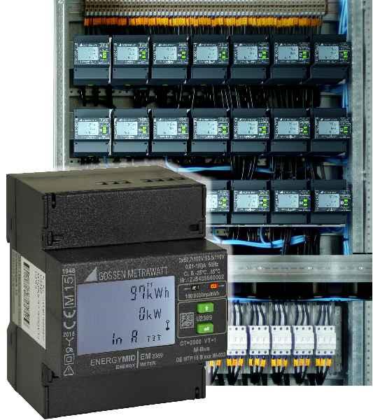 Unique functionality in a slim 4 HP device: ENERGYMID energy meter from Gossen Metrawatt