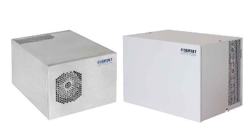 Die kompakten Dachaufbau-Kühlgeräte von Seifert Systems sind in fünf verschiedenen Modellvarianten mit Nennkühlleistungen von 450 W bis 1,1 kW lieferbar