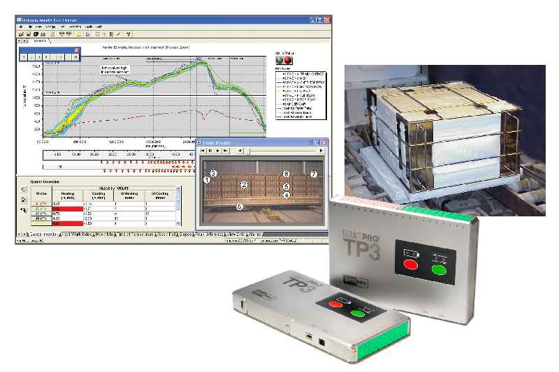 DATAPAQ Kiln Trackers create complete temperature profiles as they travel through the kiln