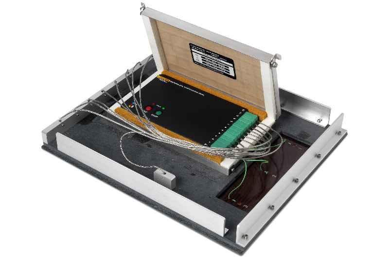 The temperature profilers are used to monitor PCB temperatures and oven performance – via sensor fixtures like this one