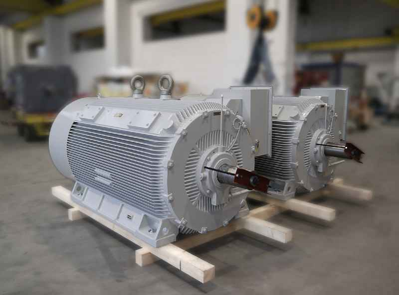 Menzel built two dual-speed motors with a rated voltage of 6000 V for a venting system