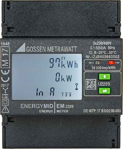 The highly compact ENERGYMID from Gossen Metrawatt is now available in two versions for direct measurement, which means without extra current and voltage transformers.