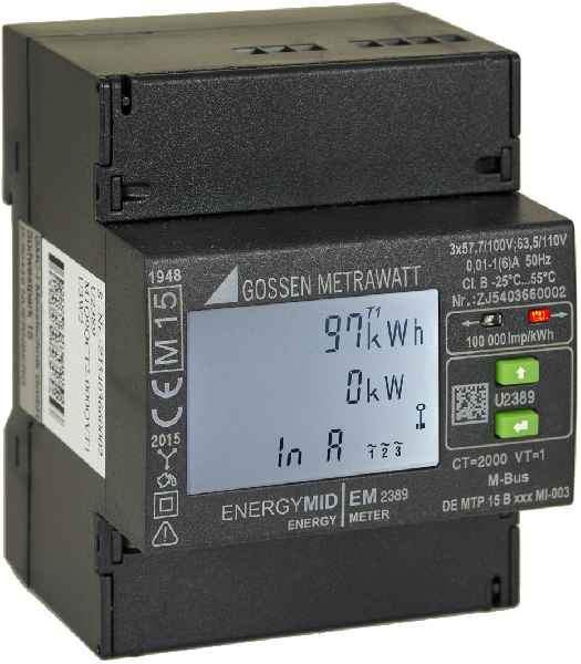 The new generation of sustainable energy meters from Gossen Metrawatt come with a MID-compliant calibration for differentiated cost accounting