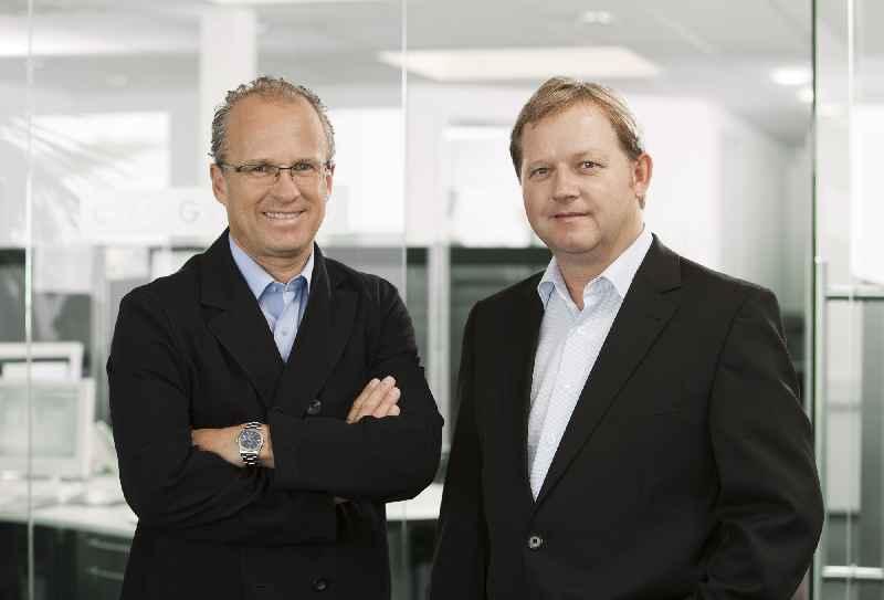 Axel Hamacher und Dirk Martens-Ritz, Geschäftsführer von EVG und Söhne der Unternehmensgründer, führen das Unternehmen in der zweiten Generation