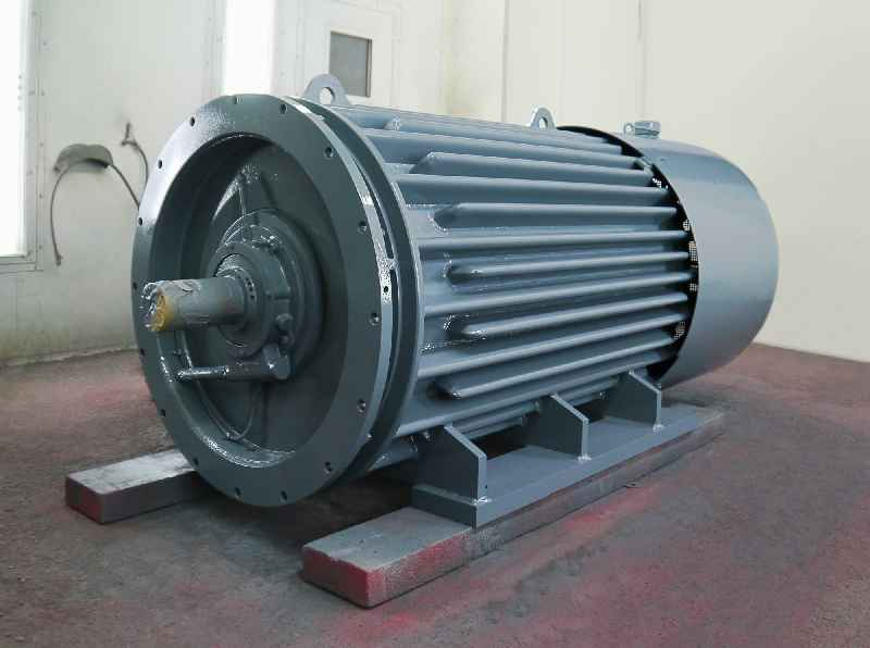 Menzel's large motor inventory includes unusual configurations such as this 12-pole medium-power motor