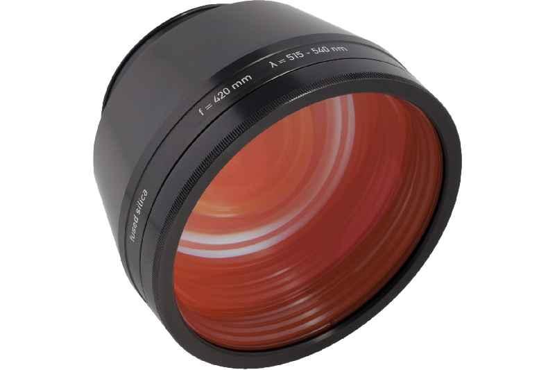 Qioptiqs Produktgruppe LINOS F-Theta-Ronar umfasst Objektive für das Lasersintern von Kupfer