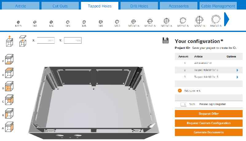 The short way to quotes and CAD files: the configurator integrates customization and installation accessories