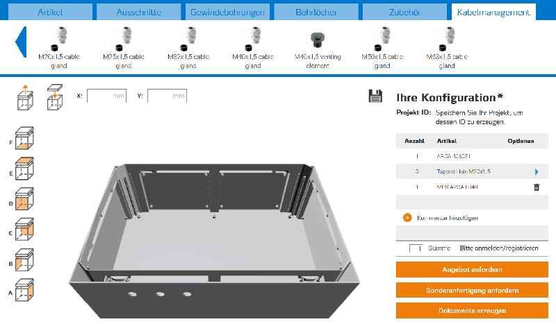 Schnell zu Angebot und Maßzeichnungen: Im Konfigurator können Bearbeitungen und Installationszubehör gleich mitgeplant werden