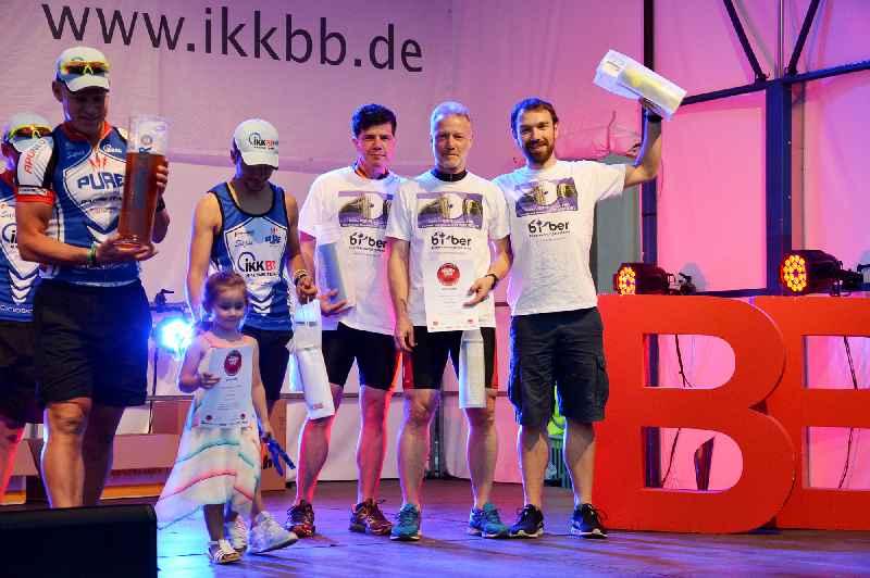 Die Skater Robert Wöllert-Wache, Ronald Krzywinski und Bastien Sachs (v.l.n.r.) von Bi-Ber und BTSC wurden Dritte in der Teamwertung