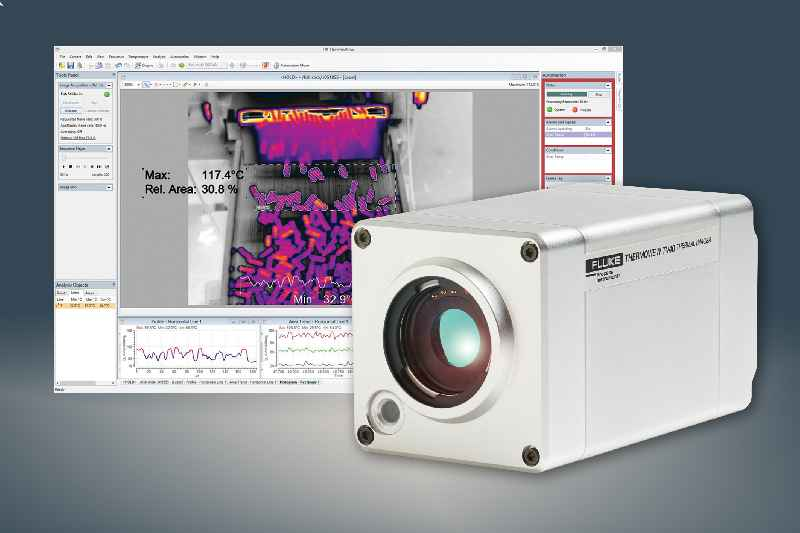 …and infrared monitoring equipment keeps an eye on products as they enter and leave processes