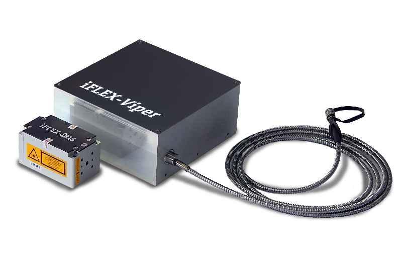 Das Qioptiq-Spektrum umfasst neben dem multispektralen iFLEX-Viper auch monochrome Laser wie den kleinen iFLEX-iRIS CLM