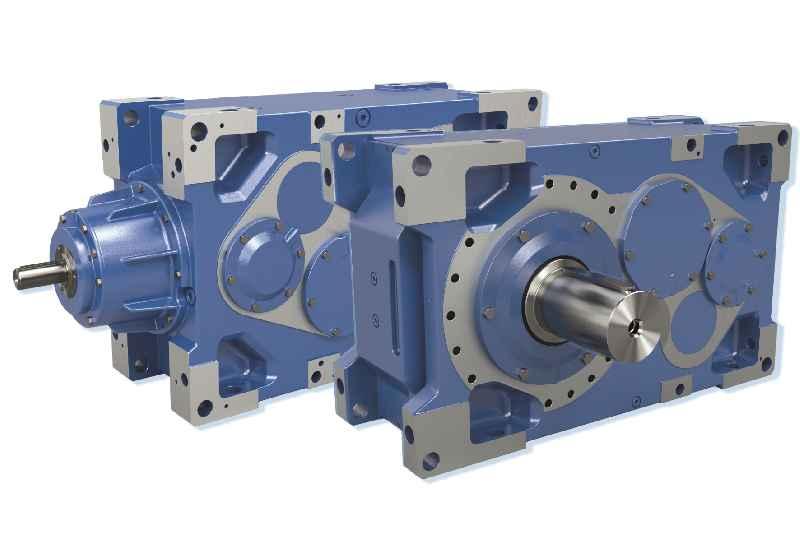 Die neuen Industriegetriebe schaffen im Lastbereich bis 20.000 Nm große Flexibilität bei der Antriebsausstattung, zum Beispiel mit Doppelantrieb und Motorschwinge