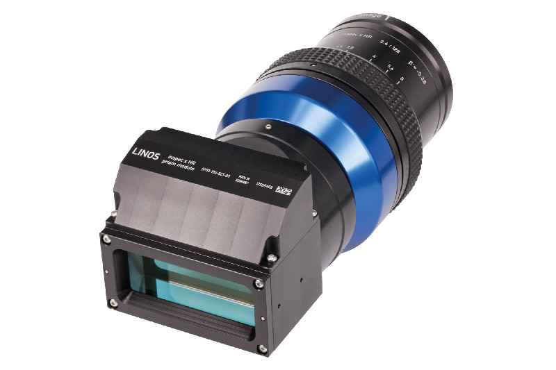The new lens with an optimized prism module delivers high-resolution imaging in automated inspection applications with line cameras