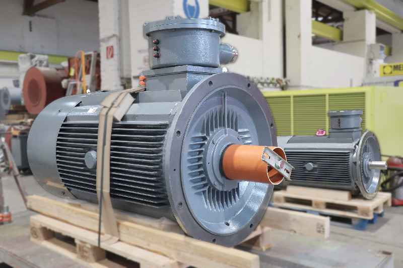 Menzel stocks up on components to enable faster delivery of IP67 motors – the picture shows two motors for a pump station in Egypt