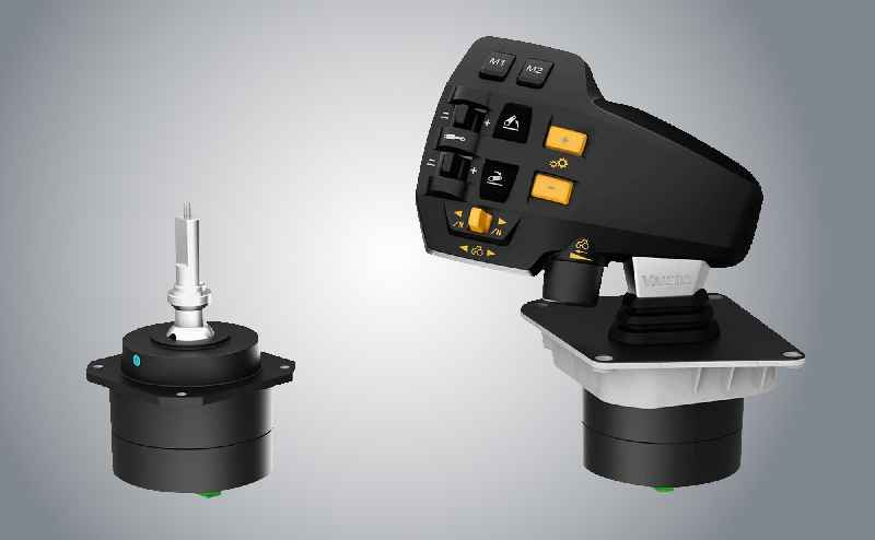 The new multifunction joystick from RAFI for VALTRA tractors developed from the basic JOYSCAPE ROUGH model.
