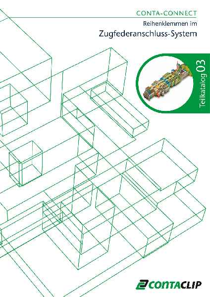 In einem neuen Katalog präsentiert CONTA-CLIP sein umfassendes Angebot an Reihenklemmen mit Zugfederanschluss