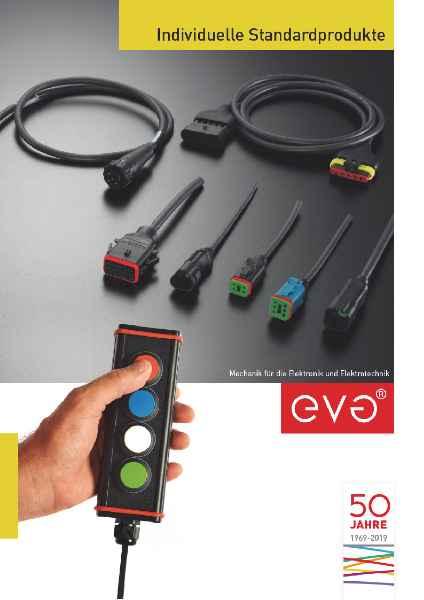 """Der Katalog """"Individuelle Standardprodukte"""" präsentiert das EVG-Angebot an kundenspezifischen Steckverbinder- und Gehäuselösungen"""