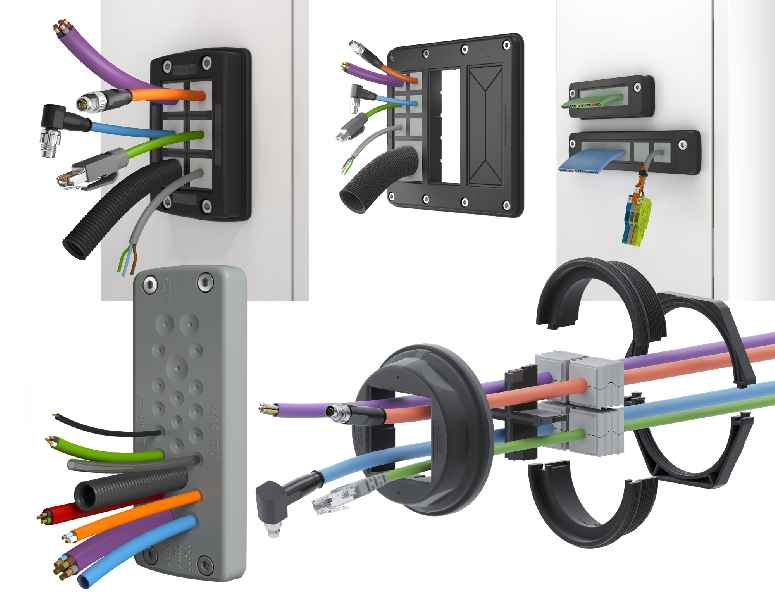 The KDS and KES product families enable easy, variable cable management for all diameters and shapes