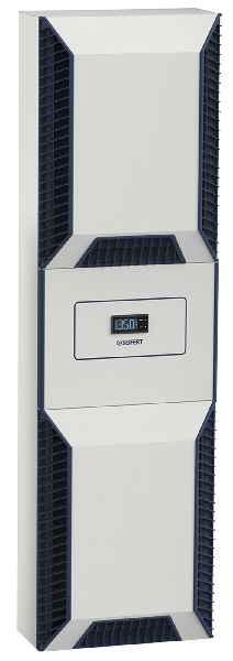 Hoch wirtschaftliche und bedarfsgerechte Schaltschrankklimatisierung durch die schlanken Kühlgeräte SlimLine Vario mit drehzahlgeregeltem Kompressor