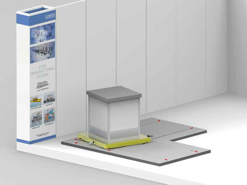 At the 2019 LogiMAT, LOSYCO presents new intra-logistics rail transport platforms with integrated guiding and braking (Hall 7, Stand B09)