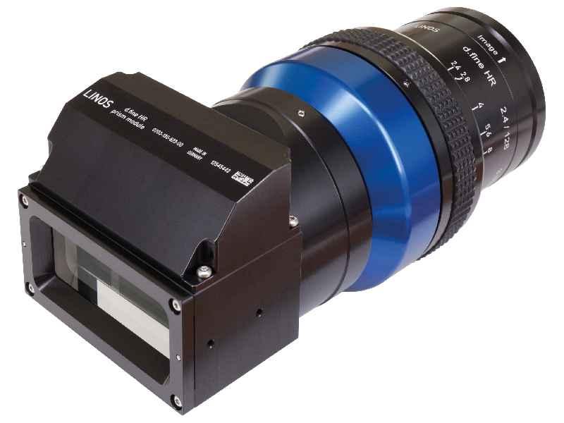LINOS d.fine HR 2.4/128 3.33x mit Strahlteilerprisma für Zeilenkameraanwendungen