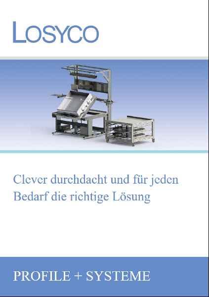 """Im neuen Online-Katalog """"Profile + Systeme"""" präsentiert LOSYCO seine Baukastenlösungen für Fördertechnik und ergonomische Arbeitsplatzeinrichtungen"""